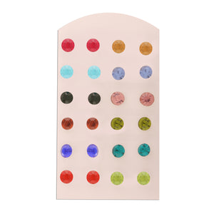 MFACDVNCLR30-ACCESSHER Multicolour Stud Earrings for Women.
