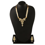 NS0318DP682P147GW -AccessHer stylish Vilandi Kundan and pearl necklace set for women