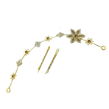 Studded hair accessory Tiara With bobby pin