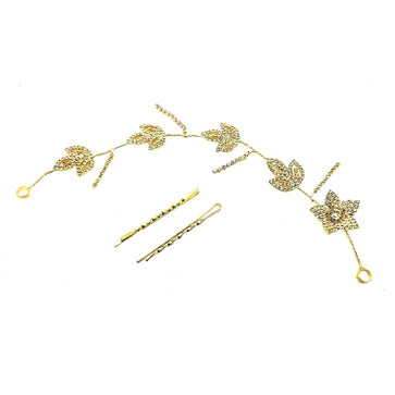 Studded hair accessory Tiara With booby pin