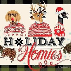 PRE-ORDER Holiday Homies Flannel FQ Bundle Plus Solids by Tula Pink