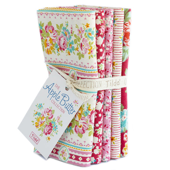 Apple Butter Red/Pink Fat Quarter Bundle Tilda