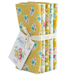 Apple Butter Yellow/White Fat Quarter Bundle Tilda