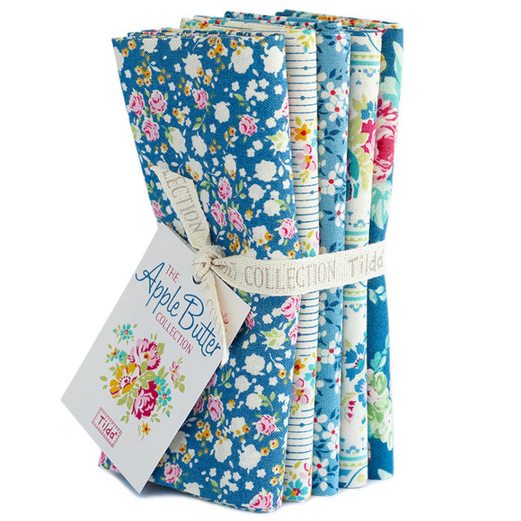 Apple Butter Blue Fat Quarter Bundle Tilda
