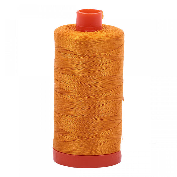 Aurifil Large Spool 50wt. Thread Yellow Orange