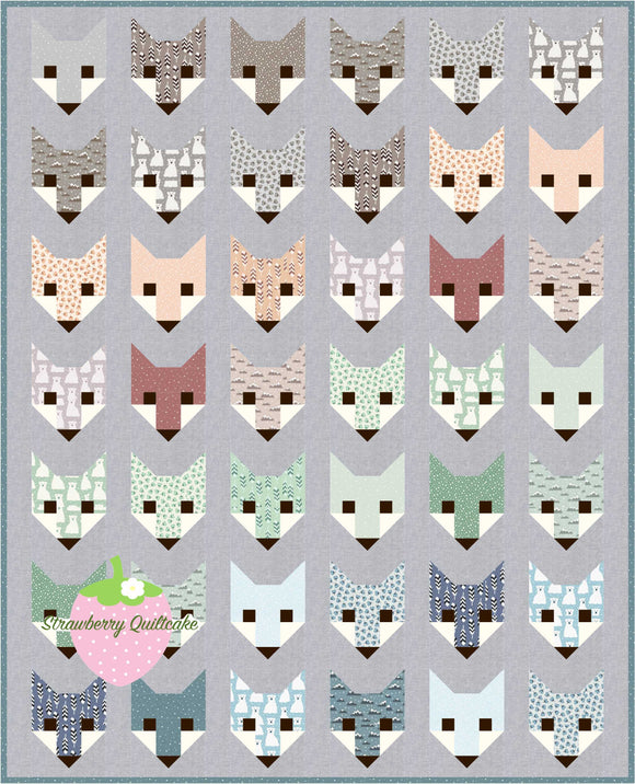 NEW Arctic Fox Quilt Kit