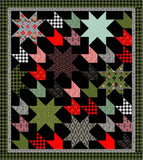 PRE-ORDER Comfort and Joy Quilt Kit featuring Holiday Homies Flannel by Tula Pink