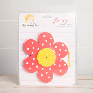 Binding Babies Flower Spindle Red