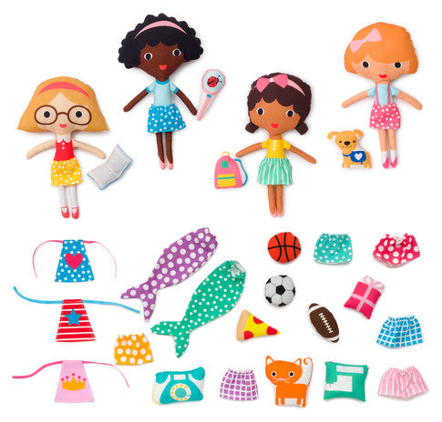 Pre-Order New Girl Friends Doll Sewing Panel Kit