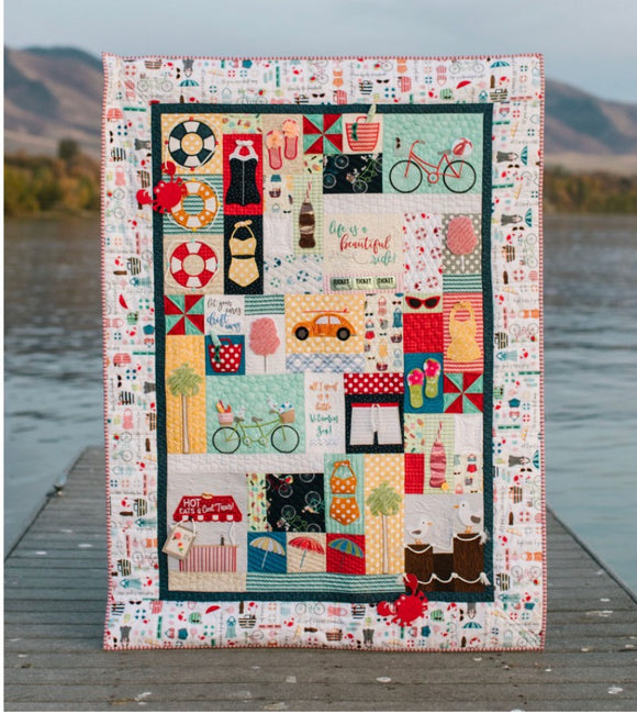 Vintage Boardwalk Quilt Kit - SEWING