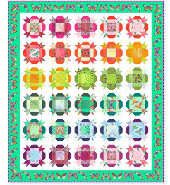 PRE-ORDER Hibiscus Quilt Kit featuring Daydreamer by Tula Pink