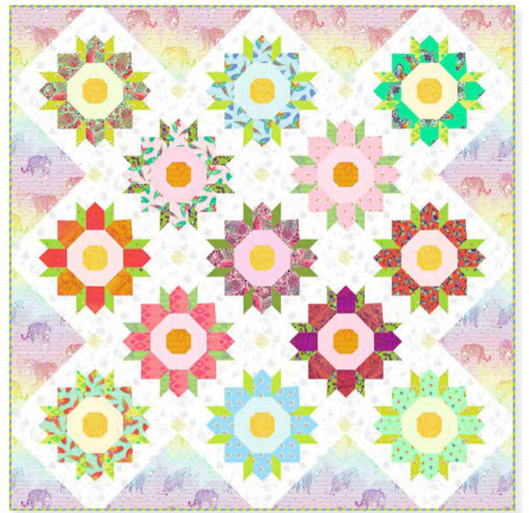 PRE-ORDER Chrysanthemum Quilt Kit featuring Daydreamer by Tula Pink