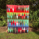 Christmas Tree Mountain Quilt Kit featuring Holiday Homies by Tula Pink