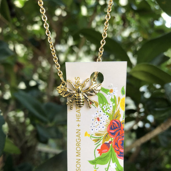 SALE Heather Ross Bumblebee Necklace