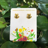 SALE Heather Ross Frog Earrings