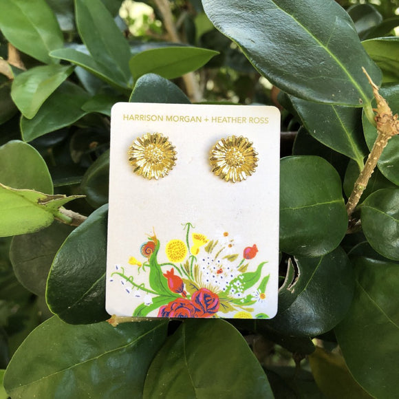 SALE Heather Ross Sunflower Earrings