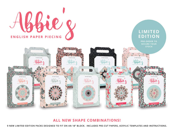 SALE PRE-ORDER Abbie's English Paper Piecing Complete Set Limited Edition