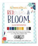 Pre-Order Kimberbell Designs Red White & Bloom Aurifil Thread Collection