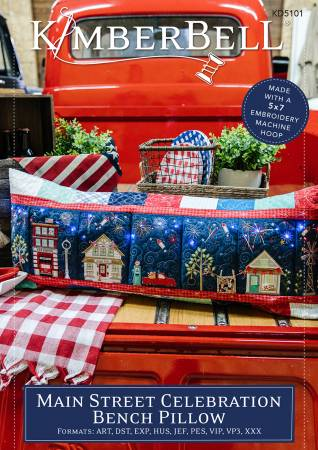 Main Street Celebration Bench Pillow Embroidery Kit