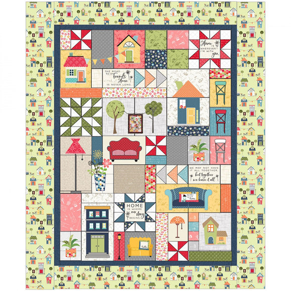 PRE-ORDER Make Yourself At Home Quilt Kit W/ Embroidery CD