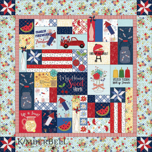 Pre-Order Red White & Bloom Embroidery Quilt Kit