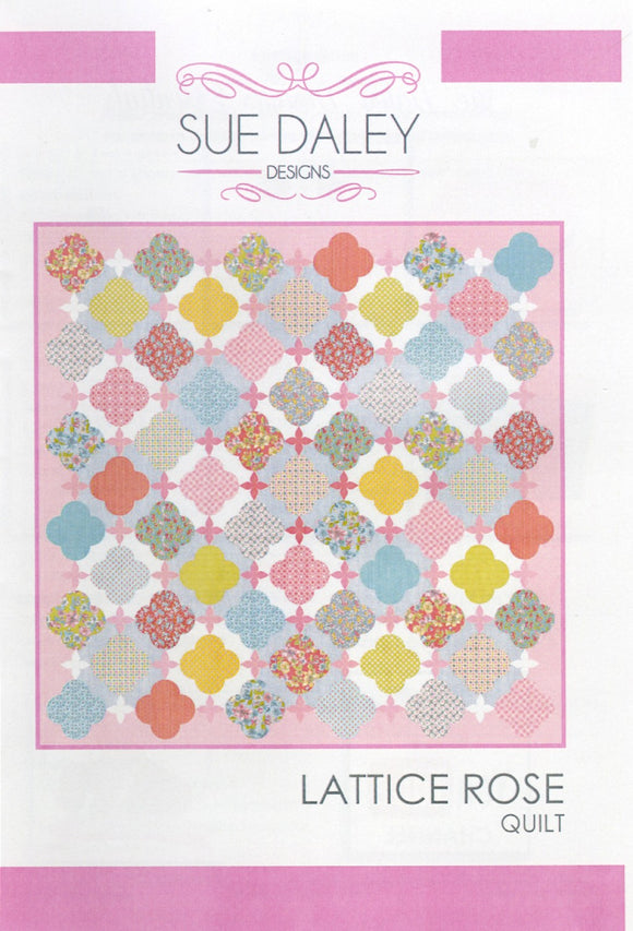 Lattice Rose Quilt Pattern