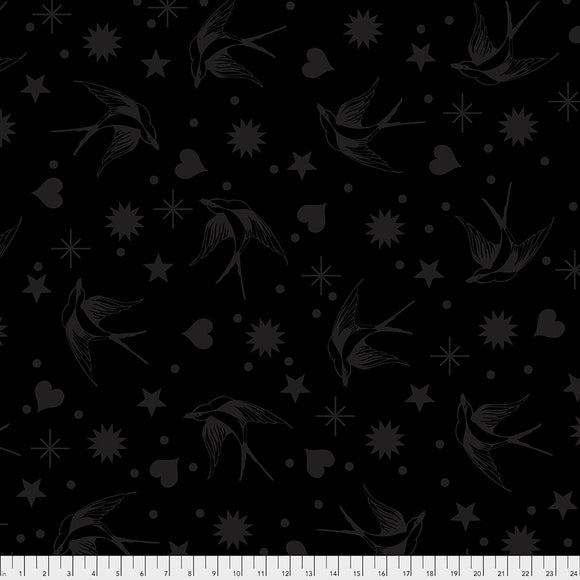 LineWork Fairy Flakes Ink Yardage