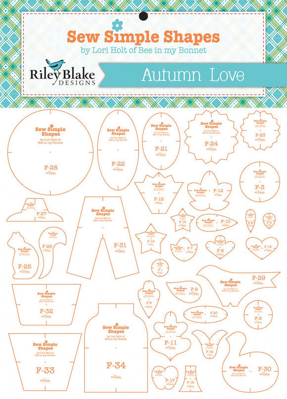 Autumn Love Sew Simple Shapes