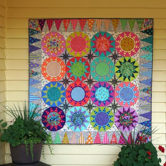 Tula Sunrise Quilt Kit featuring Monkey Wrench by Tula Pink