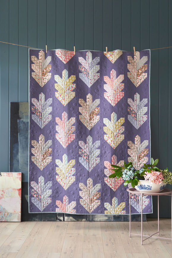 PRE-ORDER Leaf Quilt Kit in Aubergine featuring Maple Farm by Tilda
