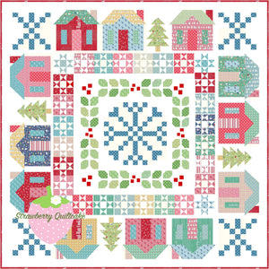 NEW Cozy Christmas Winterville Quilt Kit