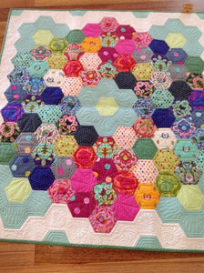 Hurray For Hexies Quilt Kit featuring Slow & Steady by Tula Pink