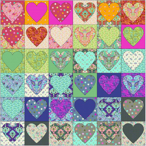 From The Heart Quilt Kit featuring Slow & Steady by Tula Pink