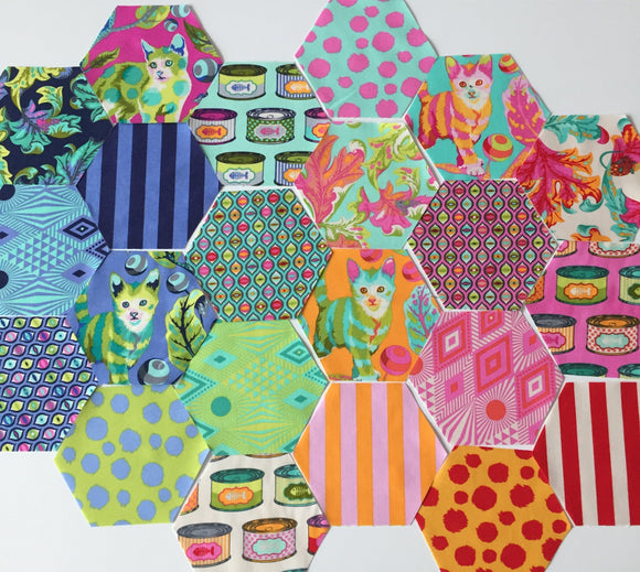 Tabby Road by Tula Pink Pre-Cut Hexagons