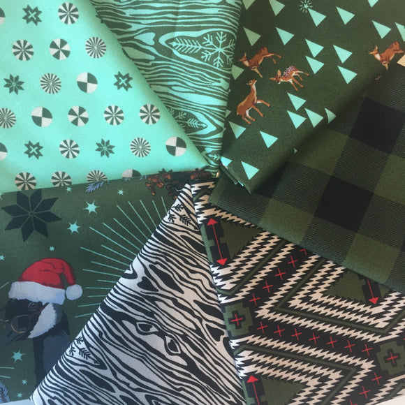 Holiday Homies Green FQ Bundle by Tula Pink