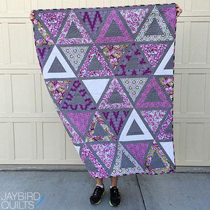 Raspberry Chopsticks Quilt Kit featuring Chipper by Tula Pink