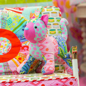 Patch The Cat Toy Kit featuring Tabby Road by Tula Pink