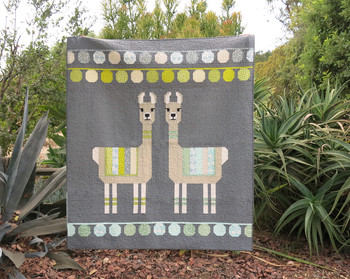 Lloyd and Lola Quilt Kit featuring Pond by Elizabeth Hartman