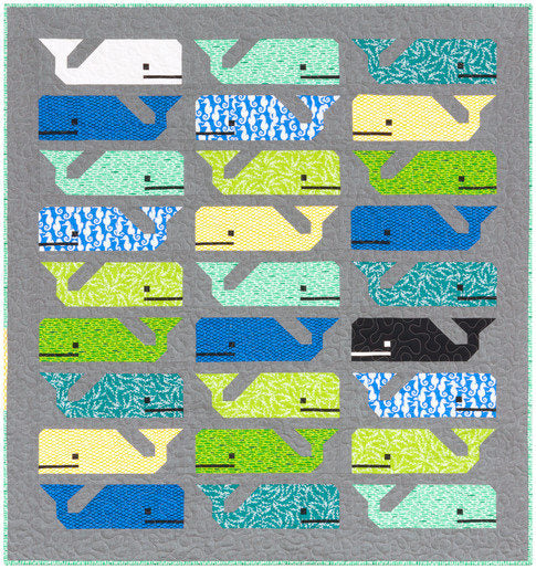 Preppy the Whale Quilt Kit