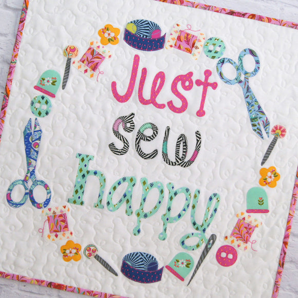 Just Sew Happy Mini Quilt Kit featuring Slow & Steady by Tula Pink
