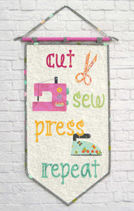 Cut Sew Press Pennant/ Mini Quilt Kit featuring Spirit Animal by Tula Pink