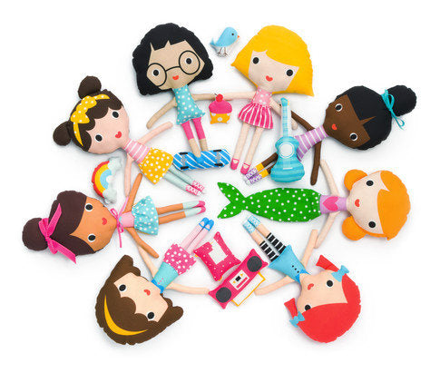 Girl Friends Doll Sewing Panel Kit