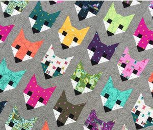 Fancy Fox Quilt Kit featuring Spirit Animal by Tula Pink