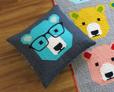 Bjorn Bear Quilt Kit featuring Kona Solids by Elizabeth Hartman