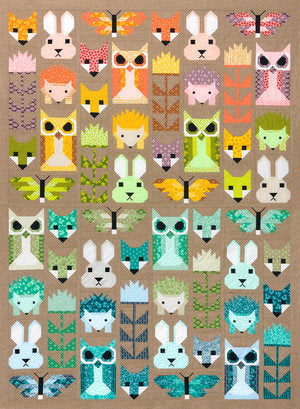 PRE-ORDER Fancy Forest Quilt Kit featuring Terrarium by Elizabeth Hartman
