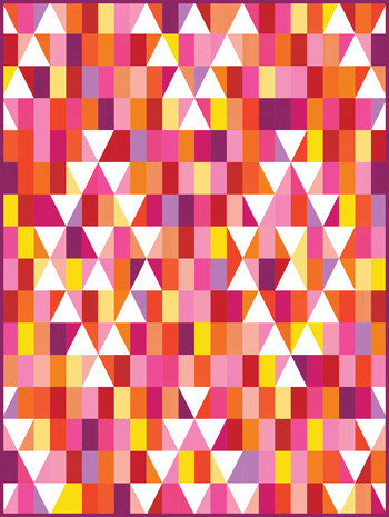 Mosaic Mountains Warm Colorstory Quilt Kit