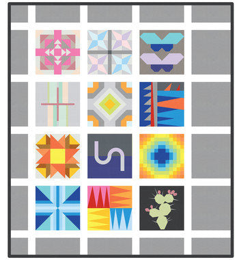 Kona Cotton Designer BOM 2018 Quilt Kit
