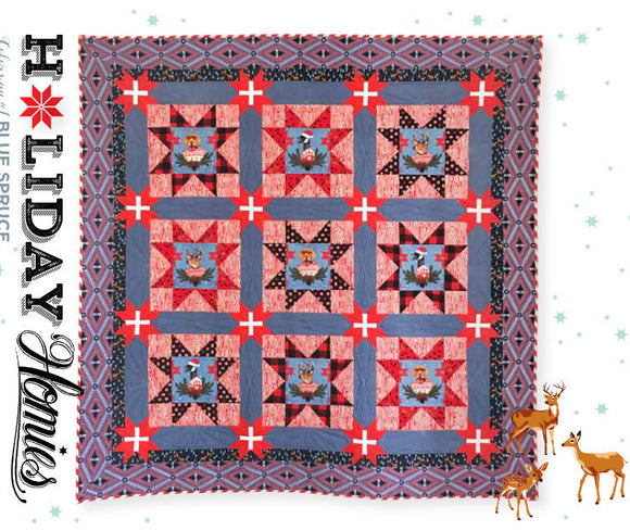 Holidays with Our Homies Quilt Kit in Denim Blue by Tula Pink