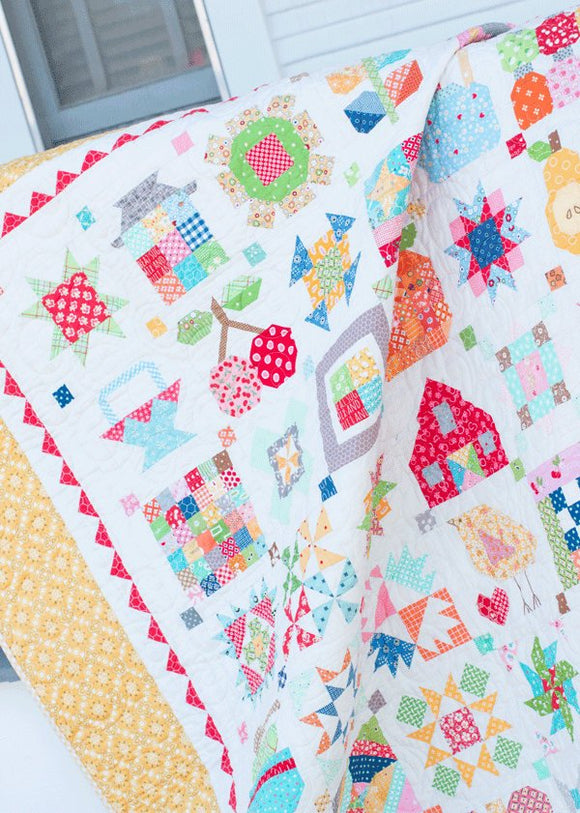 PRE-ORDER New Farm Girl Vintage Sampler Quilt Kit by Lori Holt