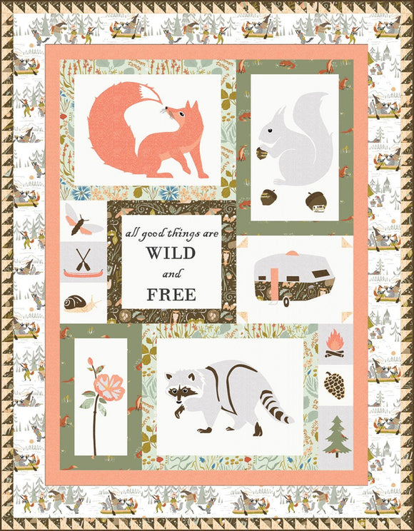 SALE All Good Things Are Wild & Free Quilt Kit